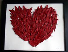 Origami crane heart by Anne Allen