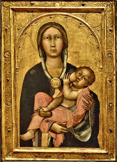 MADONNA AND CHILD.14 CENT. PAOLO DI GIOVANNI FEI (Siena, 1345 – 1411)   #TuscanyAgriturismoGiratola