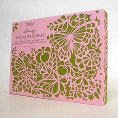 Marks & Spencer by Millie Marotta, via Behance Paper Packaging, Gift Packaging, Chocolate Packaging, Food Packaging Design, Infused Water, Chocolate Truffles, Confectionery, Pink And Green, Pattern Design