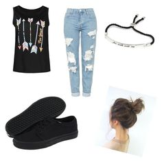 """""""Untitled #52"""" by iyabelaski04 on Polyvore featuring Topshop and Vans"""