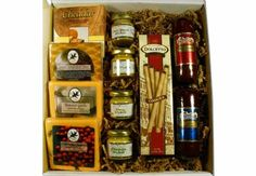Deluxe Meat and Cheese Gift Box - http://mygourmetgifts.com/deluxe-meat-and-cheese-gift-box/