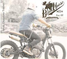 www.theblackmoosecompany.com boots tracker sacrambler Harley Cafe Racer Moose, Black, Black People, Mousse, Elk