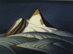 Lawren Harris  Canadian, 1885–1970 Isolation Peak, Rocky Mountains, 1930 Oil on canvas 42 x 50 in. (106.7 x 127 cm)