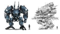 robot concept, J.C Park on ArtStation at https://www.artstation.com/artwork/robot-concept-6d45da58-71b6-4313-9ff5-3d5a2c01ec10