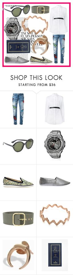 """fashion for women's​"" by denisee-denisee ❤ liked on Polyvore featuring Philipp Plein, Valentino, Gucci, G-Shock, Nicholas Kirkwood, NewbarK, Monse, EF Collection, Maria Black and Brooks Brothers"