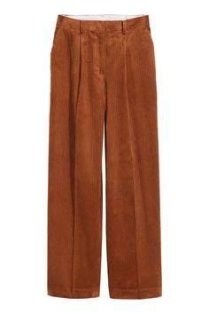 Pantalon en velours côtelé - Marron - FEMME   H M FR Pantalons En Velours  Côtelé, b1ea6178ea93