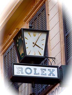 Nice Rolex Clock Sign in Palma de Mallorca Spain