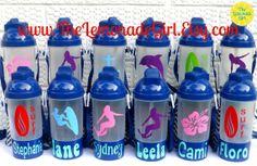 BPA FREE Personalized Surf Luau Hibiscus Beach by TheLemonadeGirl, $8.00