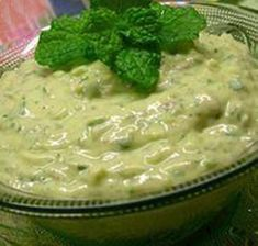 A colourful version of this classic Greek dip. Enjoy just as you would regular tzatziki! Greek Recipes, Indian Food Recipes, Fish Recipes, Tzatziki Recipes, Tzatziki Sauce, Greek Sauce, Skinny Recipes, Food For Thought, A Food