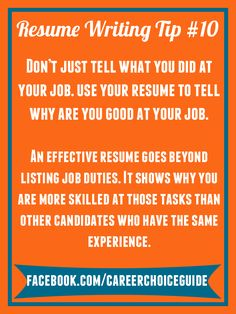 Resume Writing Quick Tip  If YouRe Looking For More Than One