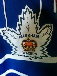 Markham Waxers White Game Worn Jersey GTHL Steven Stamkos