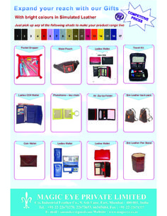 Travel and sports items from magic eye by Magic Eye Private Limited via slideshare