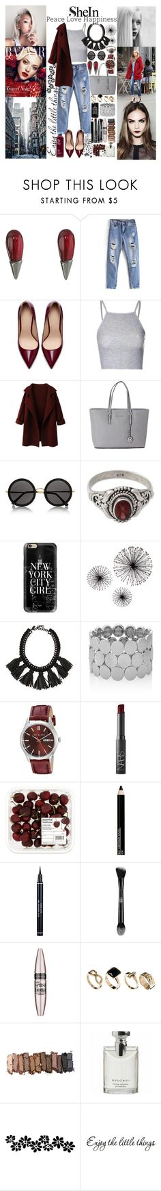 """""""Be you with shein"""" by inesramos-1 ❤ liked on Polyvore featuring Alexis Bittar, Zara, Glamorous, Michael Kors, The Row, NOVICA, Casetify, Cocoa, The Limited and Ted Baker"""
