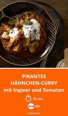 Pikantes Hähnchen-Curry - mit Ingwer und Tomaten - smarter - Kalorien: 385 kcal - Zeit: 30 Min. | eatsmarter.de