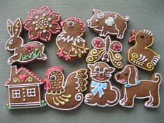 velikonoce, strana 165 | Perníky Gingerbread Cookies, Biscuits, Cake Decorating, Ornament, Food And Drink, Cupcakes, Clay, Sugar, Frosted Cookies