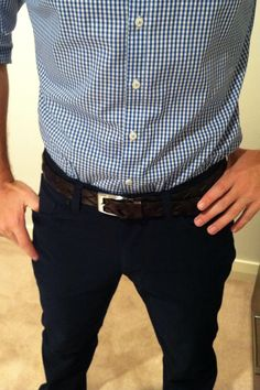 Gingham and Navy