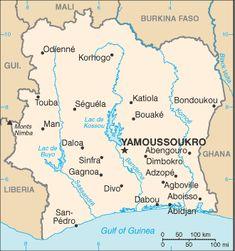 ivory coast images | coast cote d ivoire ivory coast map and basic facts