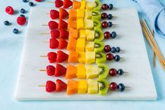 Image result for fruit stick rainbow