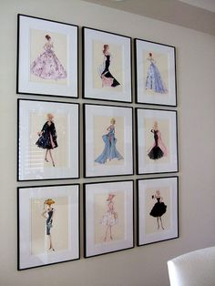 Love vintage Barbie Prints! If I ever get my own girly office this is how I'd decorate.