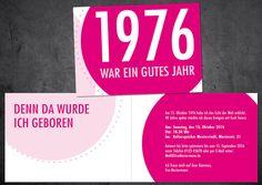 Einladung Zum 40. Geburtstag: Jahr 1978