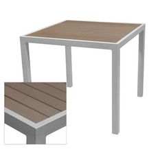 """Source Contract Nevada Dining Table Table Size: 37.5"""" L x 37.5"""" W, Top Finish: Gray, Base Finish: Silver"""