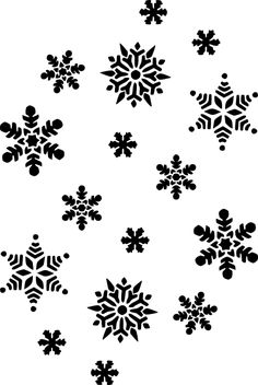 black and white patterns | Snowflakes Silhouette clip art - vector clip art online, royalty free ...