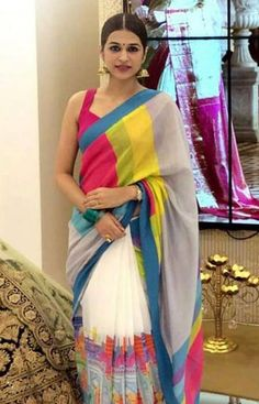 Exceptional Multi Color Soft Silk Designer Sarees SC1240 Simple Sarees, Trendy Sarees, Stylish Sarees, Fancy Sarees, Indian Silk Sarees, Soft Silk Sarees, Indian Beauty Saree, Party Kleidung, Sari Dress