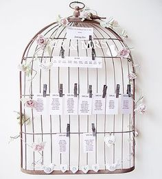 Birdcage table plan - available for hire now at Peony & Lace.co.uk