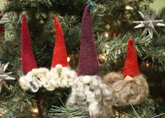 Free Needle Felting Tutorial Tomte or Gnome Ornmanets