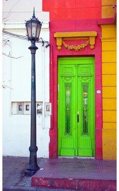 neon doorway
