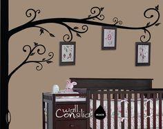 Photo Tree Wall Decal   Frame Hanging Tree Wall by WallConsilia