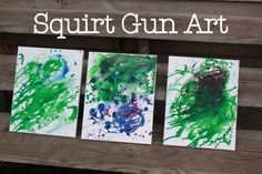 Squirt gun art - fun, easy project great for multi-age boys & girls!