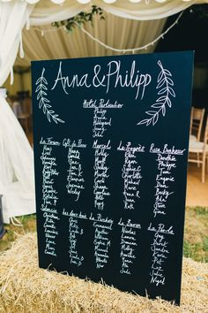 Chalkboard Blackboard Whimsical Lettering Table Seating Plan Chart Stylish Rural Relaxed Bohemian Wedding http://peppermintlovephotography.com/