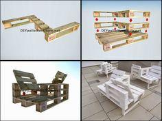 Muebles de palets: Guía para hacer una butaca doble de diseño con pal...