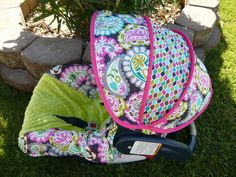 Rocco Paisley Infant Car Seat Cover With AppleMoves by sewcuteinaz, $65.00