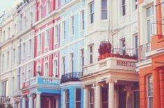 Nottinghill coloured building - blue, red, yellow