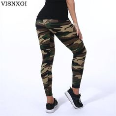 214fc9e1f5043 Women Leggings High Elastic Skinny Camouflage Legging Spring Summer Legging  Sport, Sports Leggings, Camouflage
