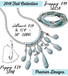 2019 Fall Collection - Premier Designs Premier Jewelry, Premier Designs Jewelry, Jewelry Design, Diy Jewelry Tutorials, Fall Jewelry, Fall Collections, Turquoise Necklace, Personalized Gifts, Fashion Boards