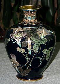 A Great Japanese Cloisonne Enamel Vase.Meiji period.
