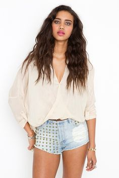 twisted pocket blouse