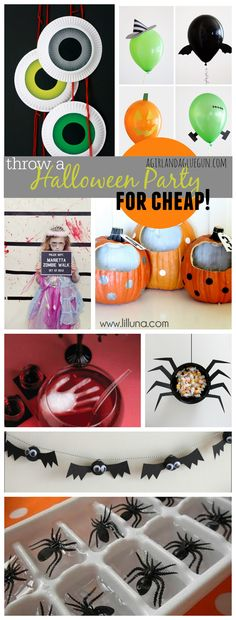 How to throw an EASY Halloween party on the CHEAP!!!! - A girl and a glue gun