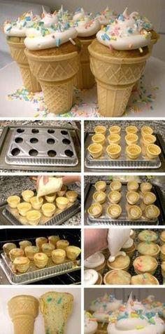 DIY Ice Cream Cakes food diy party ideas diy food party food diy deserts diy recipes diy party favors diy baking diy desert diy party ideas diy cupcakes diy birthday cupcake