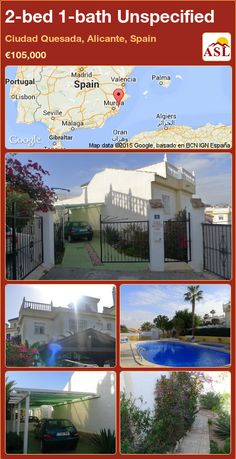 Unspecified for Sale in Ciudad Quesada, Alicante, Spain with 2 bedrooms, 1 bathroom - A Spanish Life Semi Detached, Detached House, Valencia, Portugal, Summer Bedroom, Alicante Spain, Small Office, Terrace, Golf Courses