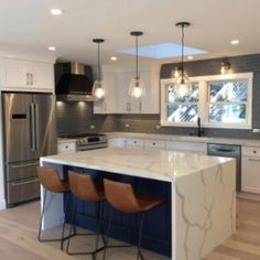 Our Slope Bar & Counter Stools curve in both the seat and back for extra comfort. Kitchen Room Design, Home Decor Kitchen, Kitchen Interior, Home Kitchens, Kitchen Furniture, New Kitchen, Remodeled Kitchens, Tuscan Kitchens, Luxury Kitchens