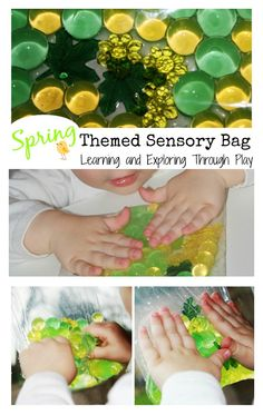 Spring themed Sensory Bag. Sensory activities for babies, toddlers and preschoolers. Learning and Exploring Through Play.