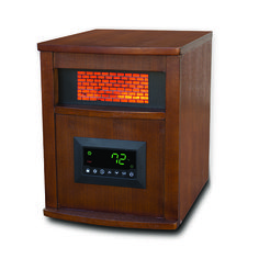 #getinthegame 1500w heater with 6 infrared quartz elements and 3 heat settings Overheat and tip over safety shut off, child safety lock and cool touch Oak exterior cabinet Must present Hot Deals Coupon in store to receive special Value Price. *Exclusions: Cannot be used with any other offer, coupon, current sale or clearance product. While supplies …
