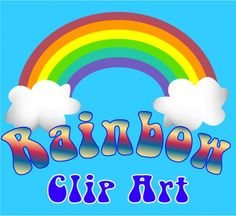Rainbow clip art for arts and crafts