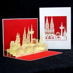 #popupkarte #colognecards #3DKarte #kölnerdom #Papierkunst #kölnskyline