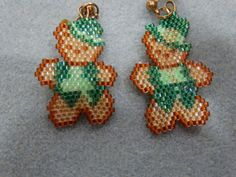 Happy ST. Patricks Day Bears by BeadsbyJoEllen on Etsy, $25.00