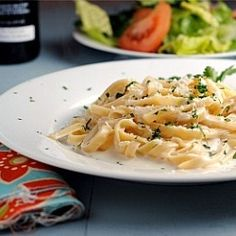 **Light Fettuccine Alfredo... all the flavor with none of the guilt!